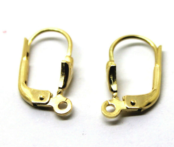 9CT YELLOW GOLD 375 14mm CONTINENTAL EARCLIP CLIP HOOKS
