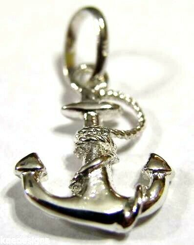 New Sterling Silver Solid Anchor Boat Pendant Or Charm *Free Express Post In Oz
