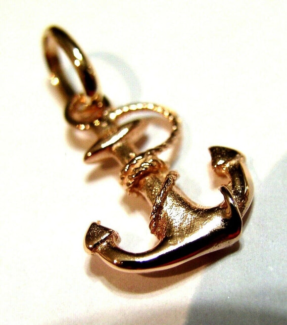 Kaedesigns, Genuine New 9ct 9kt Yellow, Rose or White Gold Solid Anchor Boat Pendant / Charm