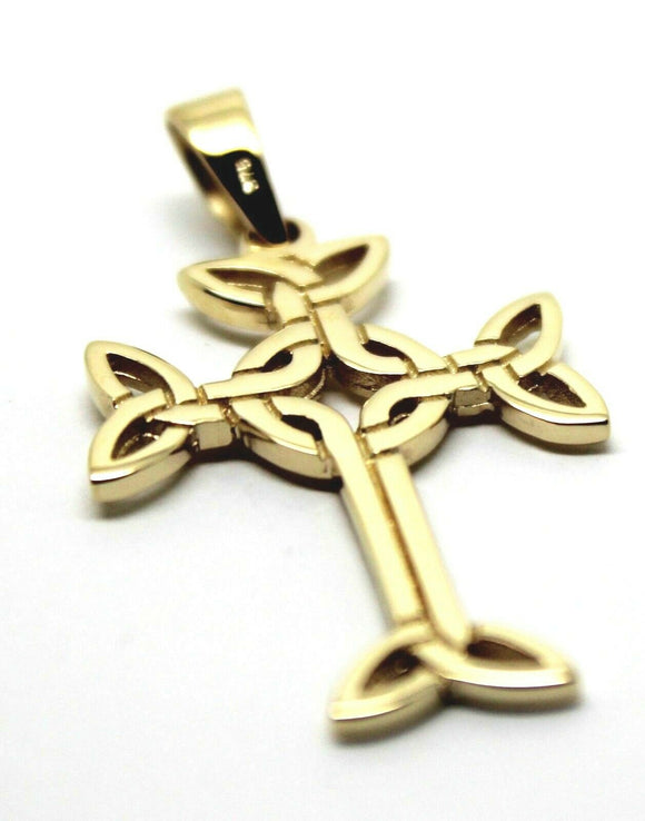 Genuine New Small 9ct Yellow Or Rose Or White Gold Celtic Cross Pendant