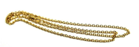 9ct Yellow Gold Belcher Chain Necklace 45cm 2.57grams *Free Express Post In Oz*
