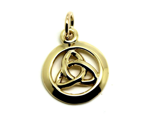 Kaedesigns Genuine New 9ct 9K Yellow, Rose or White Gold Celtic Knot Round Pendant