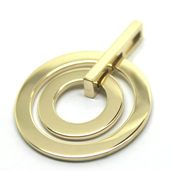 Kaedesigns Genuine Solid 9ct Solid Yellow / 375 Gold Plain Two 2 Circles Pendant