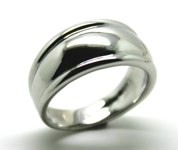 Size M, Kaedesigns, Genuine Sterling Silver 925 Thick Dome Ring 10mm Wide