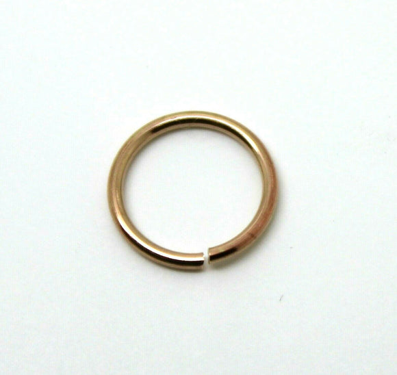 Kaedesigns, 9ct Yellow, Rose Or White Gold, 10mm Outside Diameter Open Jump Ring