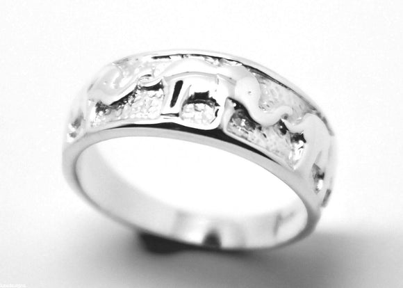 Size K Solid Sterling Silver 925 Lucky Elephant Ring *Free Express Post In Oz