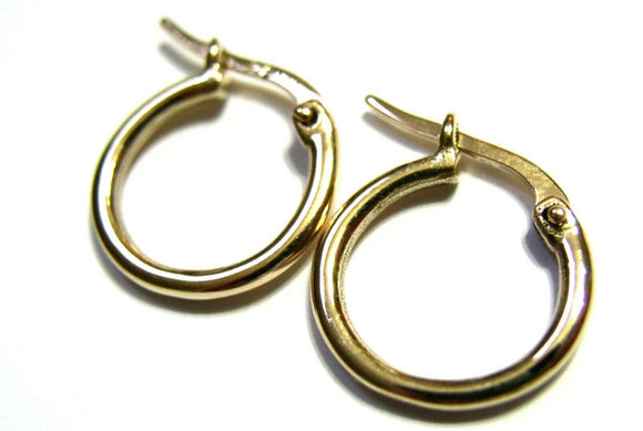 NEW GENUINE 9CT 9K YELLOW GOLD SMALL HOOP ROUND EARRINGS