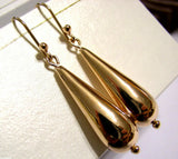 Kaedesigns Genuine New 9ct 9kt Yellow, Rose or White Gold Large Teardrop Tear Drop Earrings
