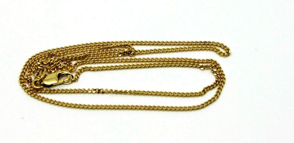 9CT YELLOW GOLD KERB CURB CHAIN NECKLACE 45cm 2.6gms *FREE EXPRESS POST IN OZ