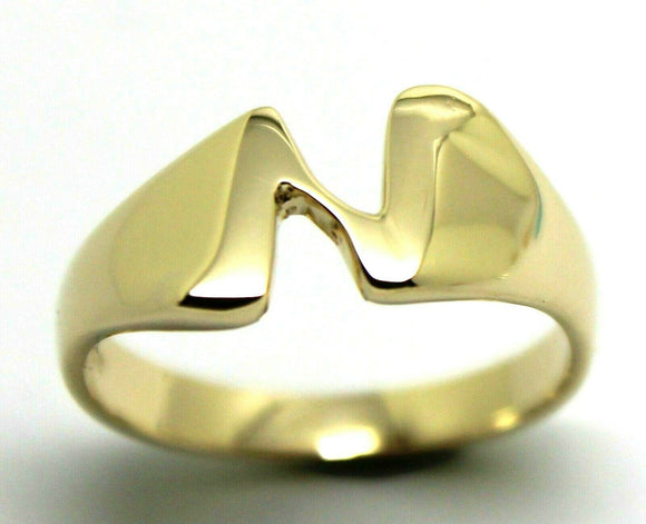 Genuine Solid 9ct 9K Yellow Or Rose Or White Gold 375 Large Initial Ring N