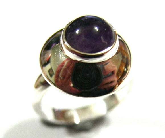 New Genuine Sterling Silver Purple Amethyst Ring *Free Express Post In Oz*