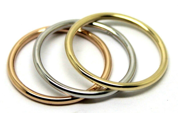Kaedesigns, Genuine Solid Stackable Rings 9ct Yellow, White And Rose Gold Bands