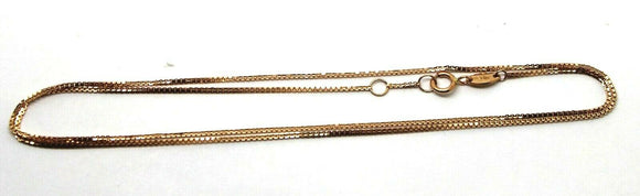 Genuine 750 18k 18ct Rose Gold Kerb Curb Chain 44cm 2.1g