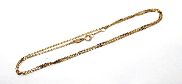 Genuine 750 18k  18ct Rose Gold Box Chain 44cm 2.71g *Free express post in oz
