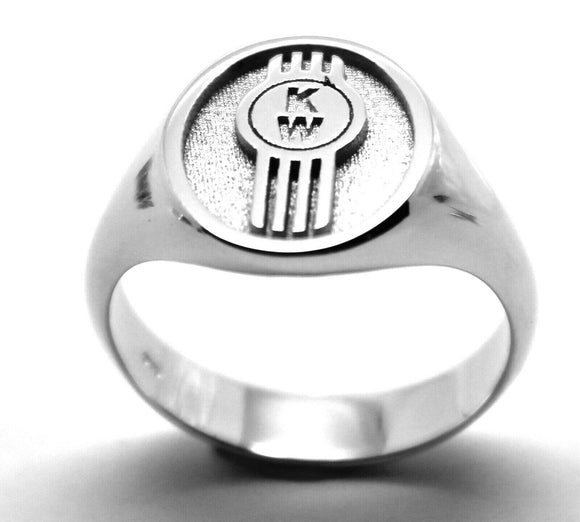 KAEDESIGNS, NEW GENUINE NEW STERLING SILVER 925 CUSTOM MADE ID INITIAL RING