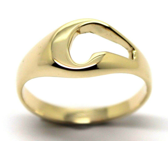 Genuine Solid 9ct 9K Yellow Or Rose Or White Gold 375 Large Initial Ring C