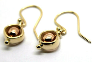 9ct Rose & Yellow Gold Spinning Belcher Ball Earrings