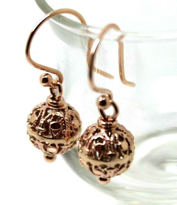 Kaedesigns New Genuine 9ct Yellow, Rose or White Gold 10mm Euro Ball Drop Filigree Earrings