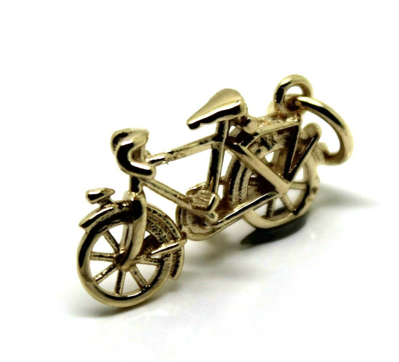 KAEDESIGNS, Genuine 9ct Yellow or Rose or White Gold or Silver Push Bike Pendant