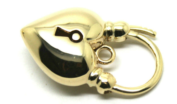 KAEDESIGNS, NEW 9ct Yellow Gold or White Gold or Rose Gold Heart Locket Padlock