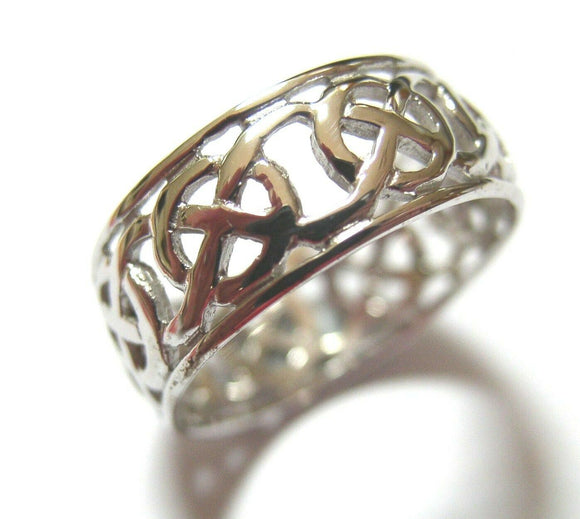 Kaedesigns New Sterling Silver 925 Large Heavy Wide Celtic Ring In Your Size 223
