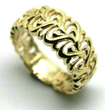 NEW 9CT 375 SOLID ROSE OR YELLOW OR WHITE GOLD FLOWER FILIGREE RING IN YOUR SIZE