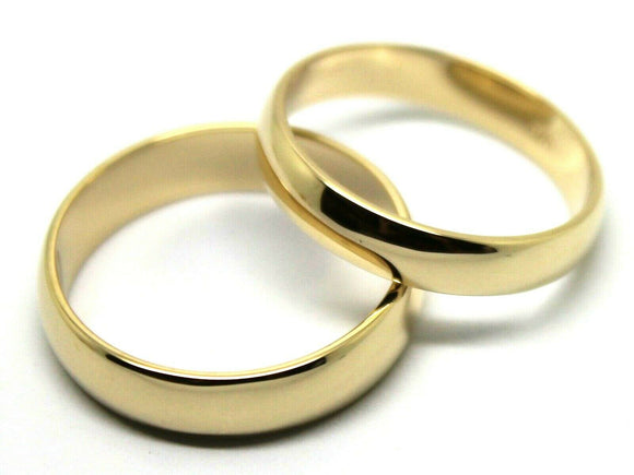 Genuine Custom Made His & Hers Solid 9ct 9K Yellow Gold Wedding Bands Rings