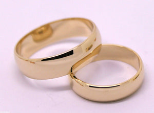 GENUINE CUSTOM MADE HIS & HERS SOLID 9ct 9K ROSE GOLD WEDDING BANDS RINGS