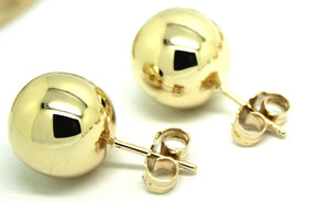 Kaedesigns, New Genuine 9ct 9K Solid Yellow, Rose or White Gold 12mm Stud Ball Earrings