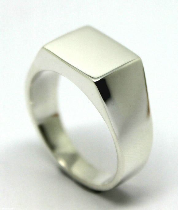 Kaedesigns Genuine Heavy Solid Sterling Silver 925 Rectangular Men Signet Ring In your ring size