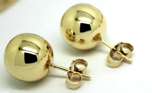 Kaedesigns New Genuine New 9ct 9K Yellow, Rose or White Gold 10mm Stud Ball Earrings
