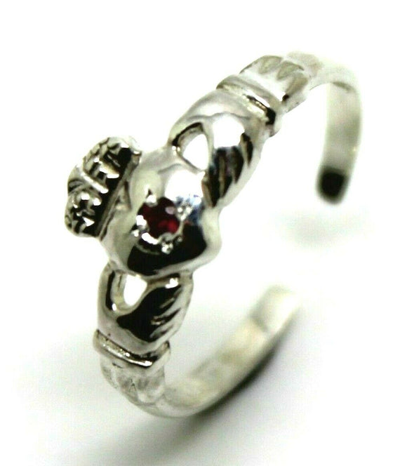STERLING SILVER IRISH RUBY CLADDAGH TOE RING * FREE EXPRESS POST IN OZ