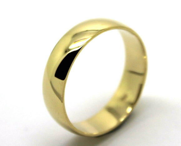 Kaedesigns Heavy 18ct 18k Gold Solid Yellow Gold 6mm Wedding Band Ring Size U