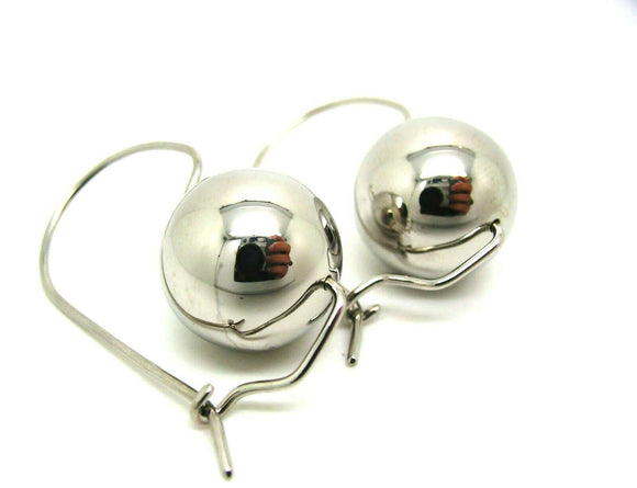 Genuine Extra Large Sterling Silver 16mm Ball Earrings