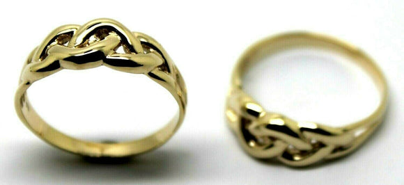 Genuine His & Hers Set Solid 9ct 9K Yellow Gold Celtic Weave Wedding Bands Rings