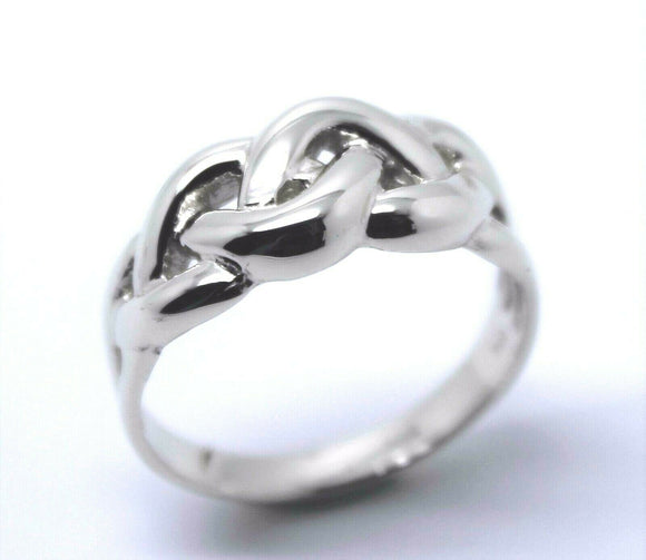 KAEDESIGNS GENUINE NEW FULL SOLID STERLING SILVER CELTIC KNOT WOVEN RING