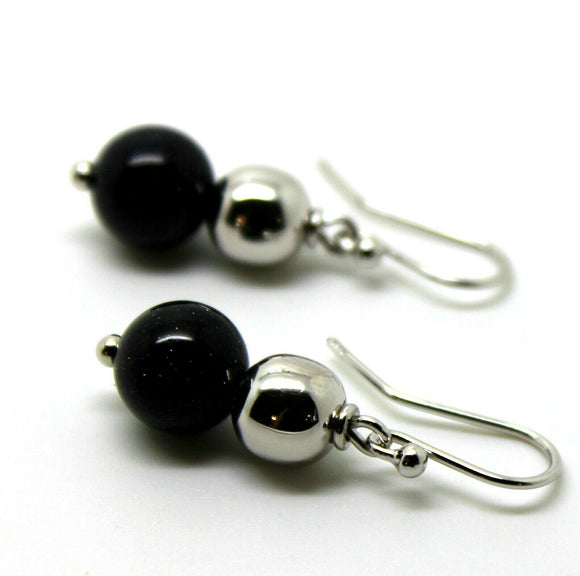 8mm Sterling Silver Ball & 10Mm Onyx Wide Ball Earrings