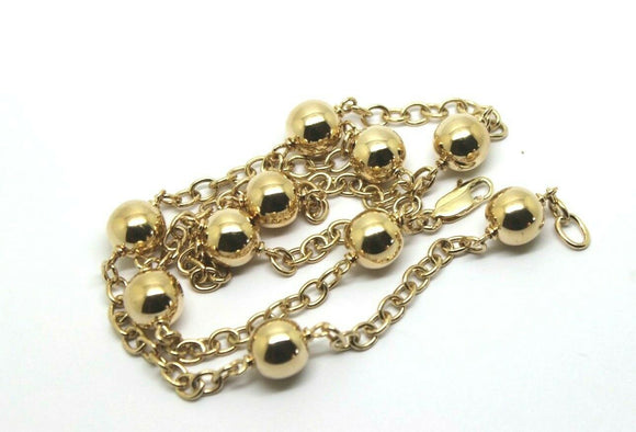 Kaedesigns 9ct 375 Solid Yellow, Rose or White Gold Ball chain 55cm Kerb Curb link Necklace