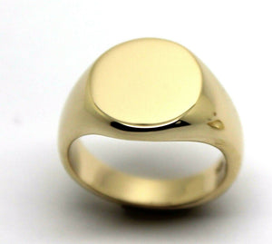Kaedesigns Full Solid Heavy New 9ct Yellow, Rose or White Gold Oval Signet Ring Size H