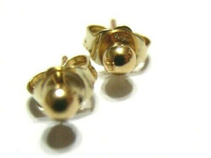 Kaedesigns, New Genuine 14ct Yellow Gold 4Mm Stud Ball Earrings