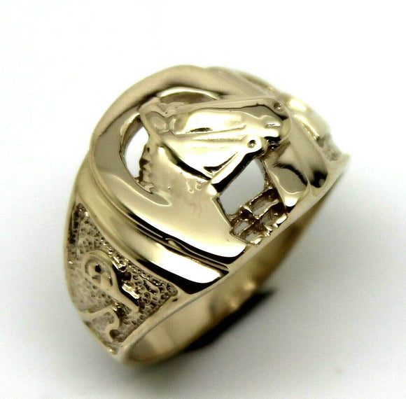 Kaedesigns, 9ct 375 Yellow or Rose or White Gold Large Heavy Horse Shoe Ring 390