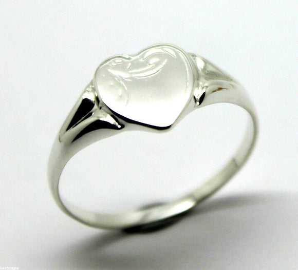 Size T Kaedesigns, New Genuine Large Sterling Silver Heart Signet Ring 265
