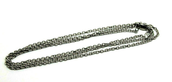 Genuine 9ct White Gold Belcher Chain 3 Grams 50Cm *Free Express Post In Oz*