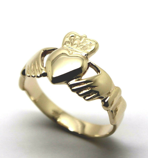 Size U New Genuine Solid 9ct 9kt Heavy Yellow, Rose or White Gold Extra Large Irish Claddagh Ring