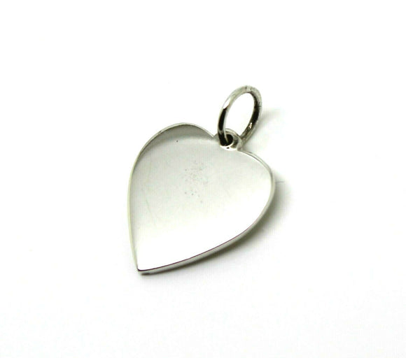 Sterling Silver Small Heart Shield Pendant Or Charm *Free Express Post In Oz