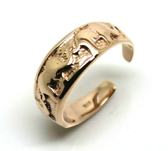 Kaedesigns Genuine 9ct 9kt Solid Yellow, Rose or White Gold Lucky Elephant Toe Ring