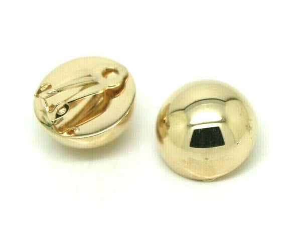Kaedesigns New Genuine New 9ct Yellow, Rose Or White Gold Clip On 18mm Half Ball Earrings
