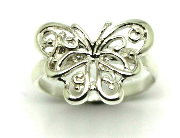 Size P Kaedesigns, Genuine Sterling Silver 925 Solid Butterfly Ring