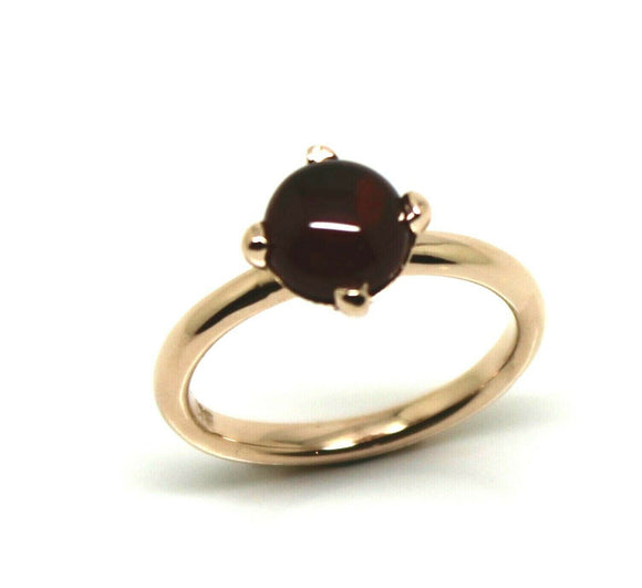 Genuine 9ct 9k Rose Gold Cabochon Garnet Stacker Ring