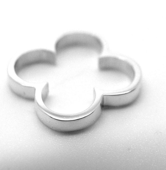 Kaedesigns, Genuine Solid Sterling Silver Small Four Leaf Clover Pendant 427